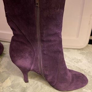 Nine West mid boot purple suede